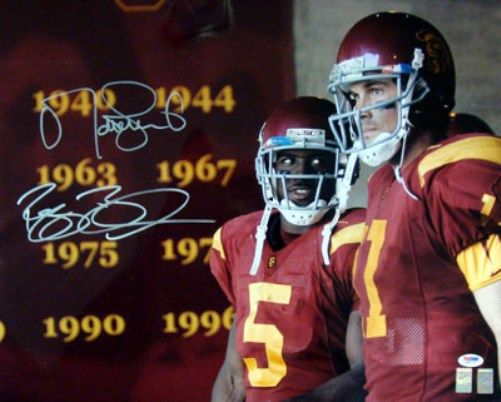 Reggie Bush & Matt Leinart Autographed 16x20 Photo USC Trojans PSA/DNA Stock