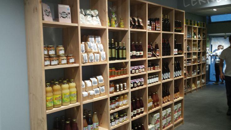 Winkelinrichting van een verswinkel en cateringbedrijf Lekker in Driebergen