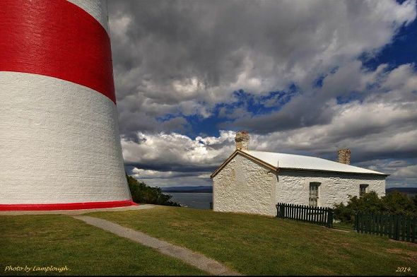Low Head #Lighthouse and Keepers Cottage Tamar Valley region of #Tasmania via #Launceston photo by David Lamplough, article for think-tasmania.com
