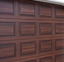 Steel Garage Door Painted To Look Like Wood