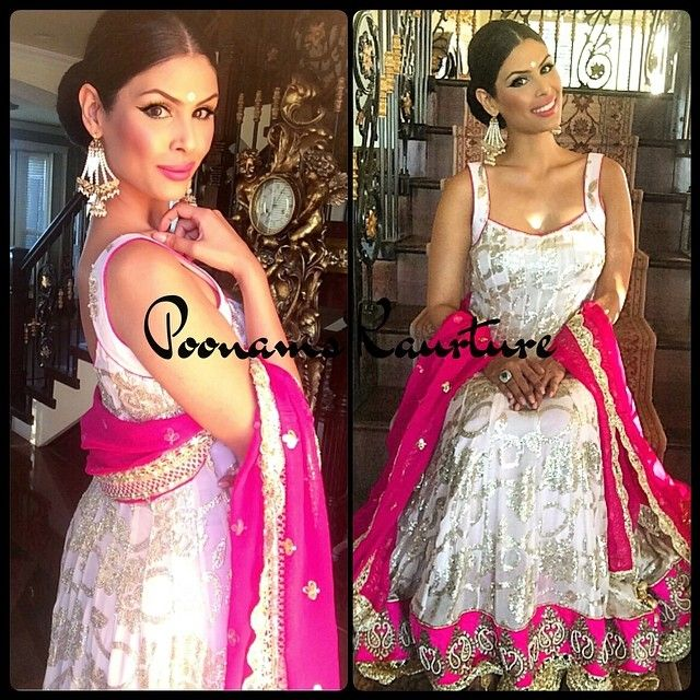 Poonam's Kaurture GORGEOUS pale pink (can't tell in the pic) and hot pink anarkali