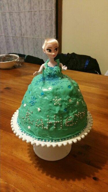 Home made Frozen Elsa cake
