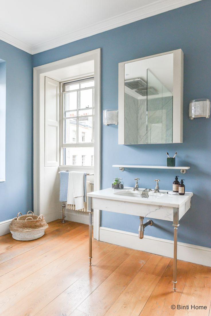 25 beste idee235n over badkamer kleuren blauw op pinterest