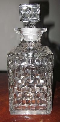 VINTAGE Fostoria American Pattern clear Decanter