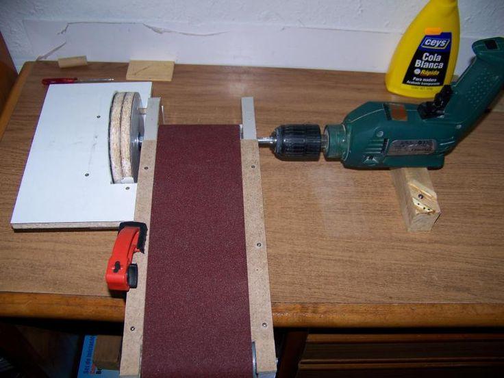 M quina lijadora casera 08 carpinteria pinterest - Lija para taladro ...