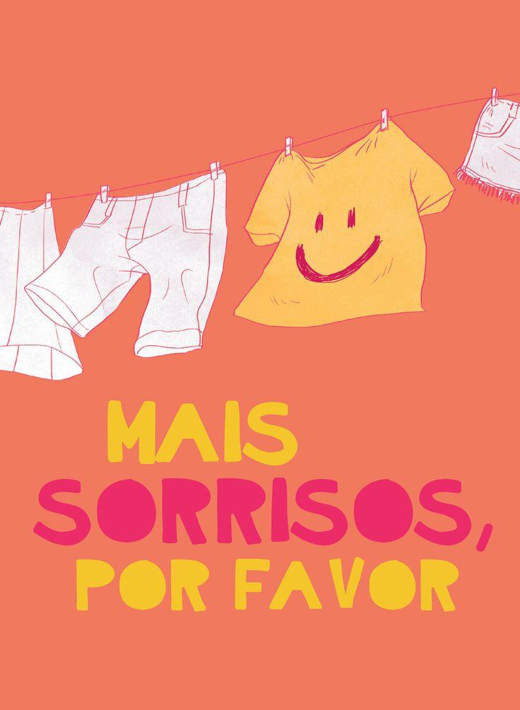 Poster Frase Mais sorrisos por favor - Decor10