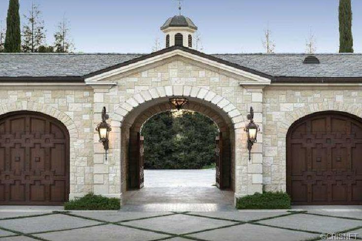 Motor Court Entrance Porte Cochere Dream Home