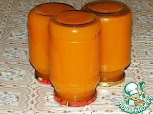 Рецепт: Тыквенно-цитрусовый сок на зиму