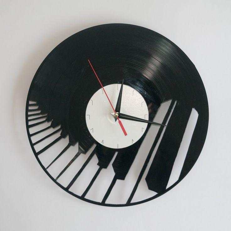 Piano Vinyl Wall Clock