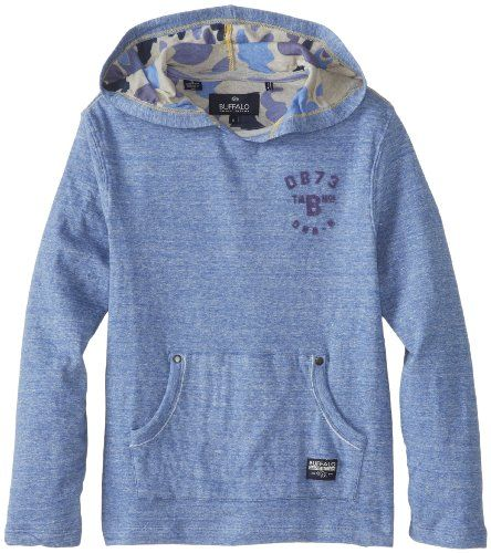 Buffalo by David Bitton Big Boys' Nindigo Hoodie, Stilton Combo, Medium