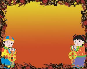 Another celebration template with Chinese images that you can use for Chinese presentations for example teachers can use this template to teach Chinese language or other foreign languages and traditions in China