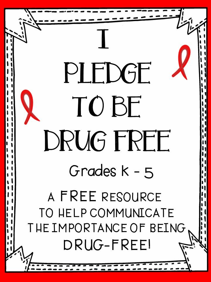 Red Ribbon Week - A Free Resource For Students To Promote Being Drug - Free! #free