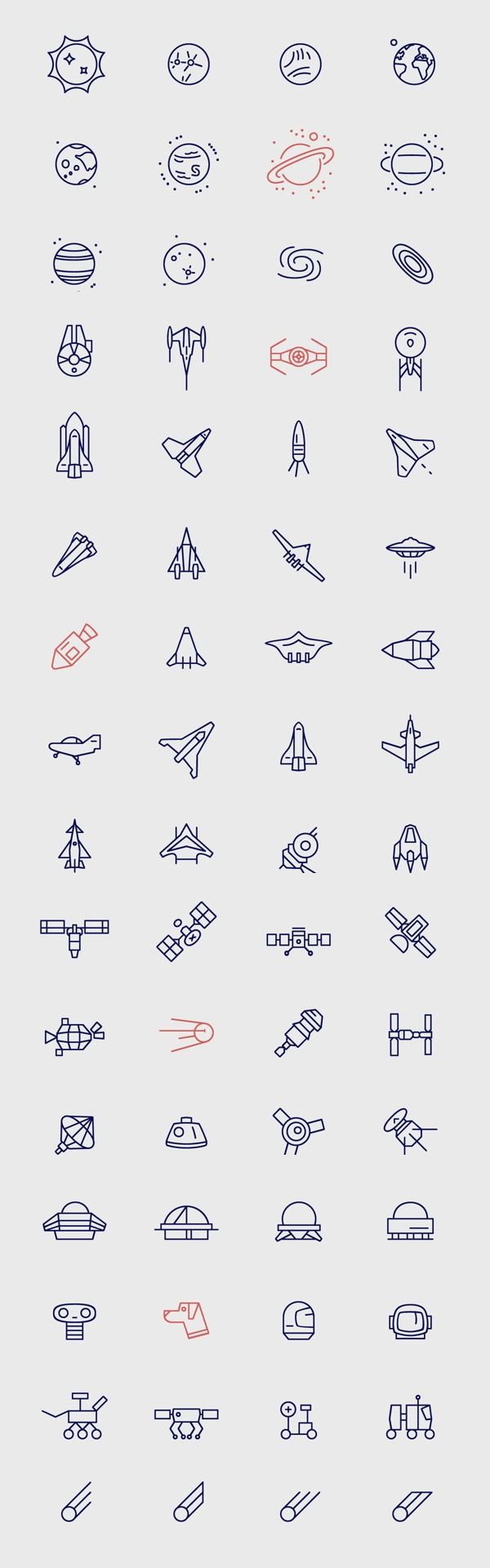 Web Design Freebies — Infinity - Free Space Icons