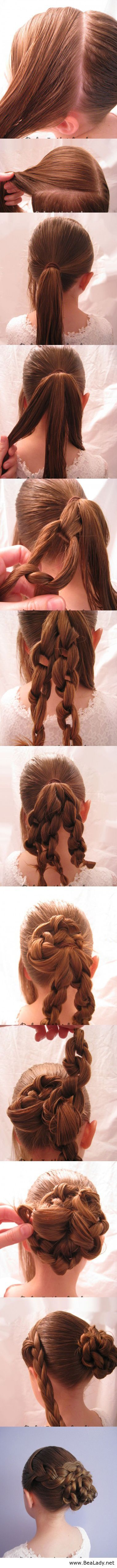 Totally going to try this Super Easy Knotted Bun Updo and Simple Bun Hairstyle Tutorials - BeaLady.net