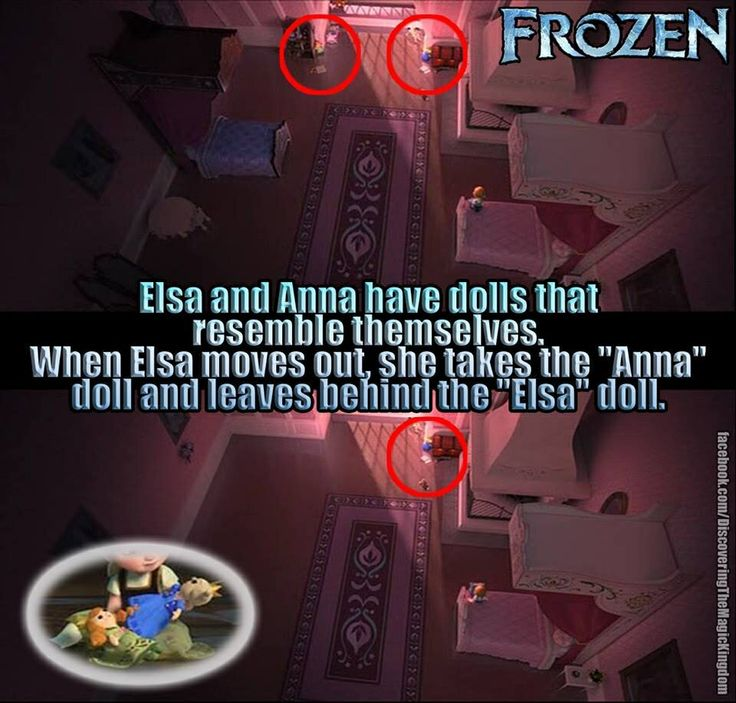Elsa and Anna's dolls - frozen meme frozen fun fact