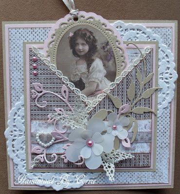 Pretty - like the use of vintage image and pocket idea! :)