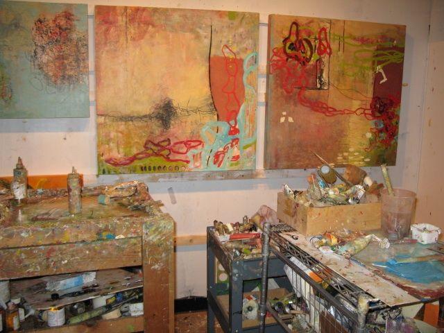 art studio and making art!