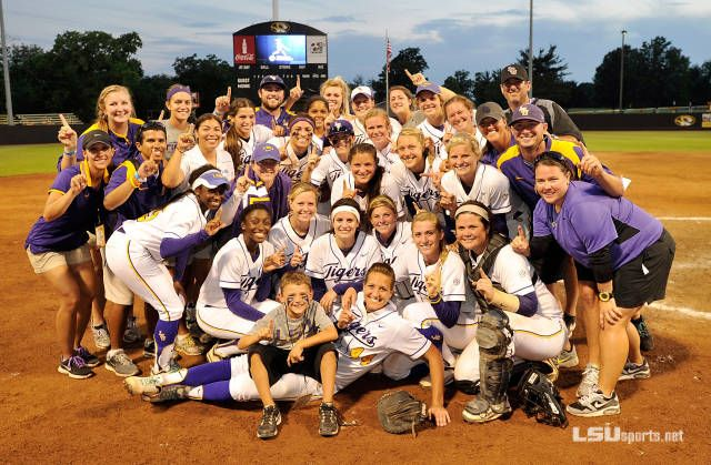 WCWS Bound: Softball Topples No. 9 Missouri. LSU Softball played awesome series and earned ticket to Oklahoma City for 2012 WCWS. GEAUX TIGERS!
