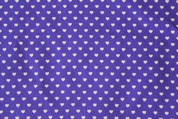 ♥Herzchen♥ lila Stoff mit lila Herzen von pickNicker auf DaWanda.com
