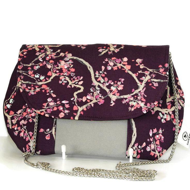 Wonderlandia Fabric Clutch – Purple Blossom print