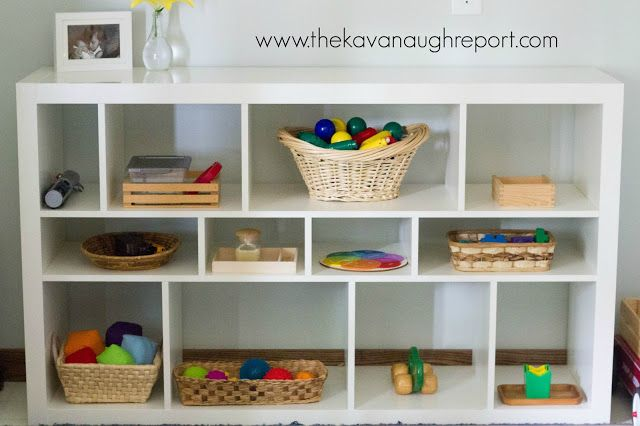 Montessori toys, Montessori baby, Montessori child - Great example of having a play space for multiple ages.