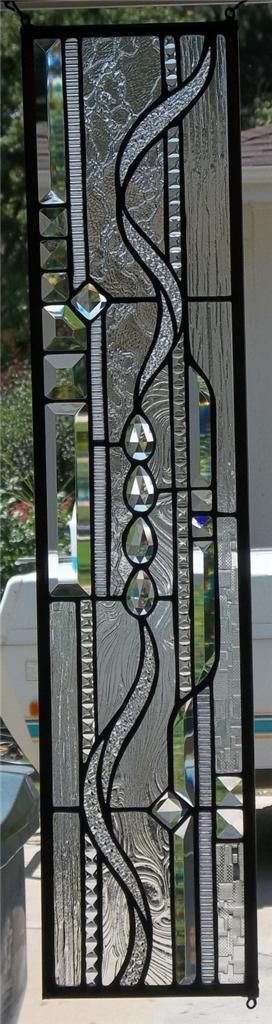 Stained Glass Window Hanging - Love the clear/textured glass