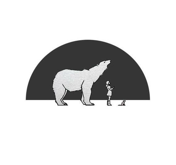 His Dark Materials print the bear the girl the by bymyglasseye