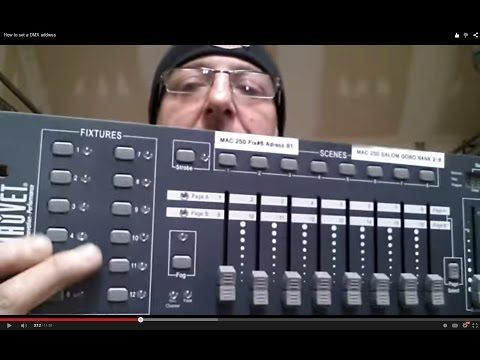 How to program DMX lights, dip switch addresses - YouTube