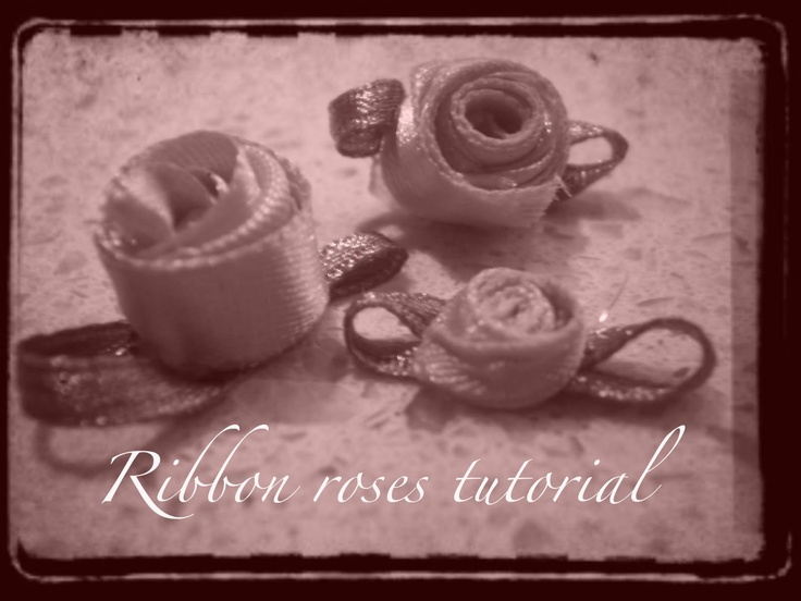 meggipeg: Ribbon roses tutorial: Ribbon Rose, Ribbons Rose, Rose Tutorials