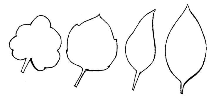 Plantillas De Hojas Y Flores Imagui Moldes Patrones