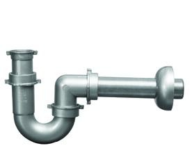 """1626 - Sifone 1 VIA P.P. grigio 2"""" tubo scarico diam. 40  #sifone #scarico #traps"""