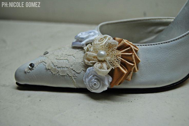 detalles zapatos de novia @laliramrez