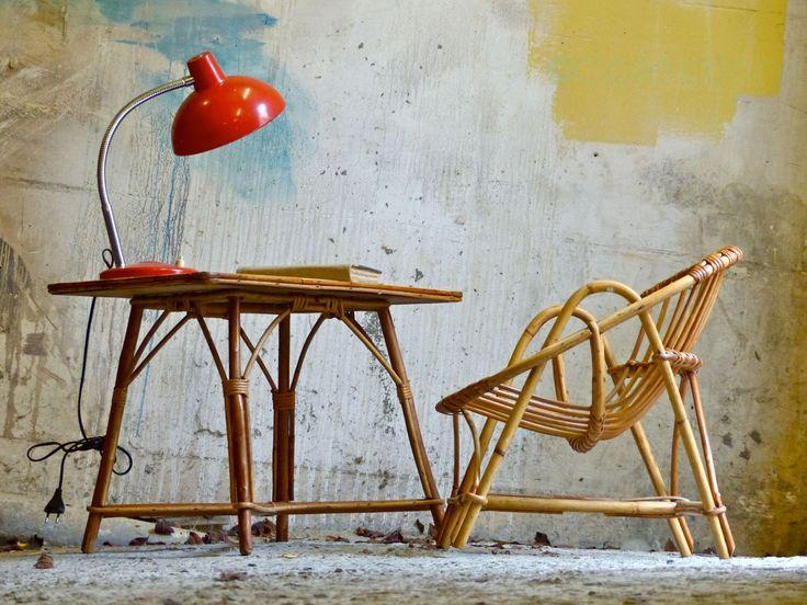 Schreibtisch Kinder Rattan und Wicker - Mitte Jahrhundert Kind Schreibtisch und Sessel Stuhl von CollectionIt auf Etsy https://www.etsy.com/de/listing/258359216/schreibtisch-kinder-rattan-und-wicker