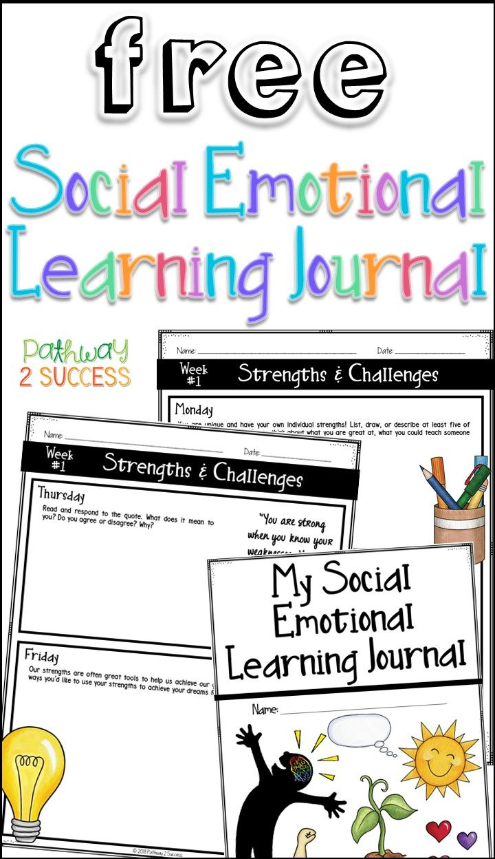 Use This Free Social Emotional Learning Journal To Teach Sel Skills This Free Resource Inclu Social Emotional Learning Social Emotional Teaching Social Skills
