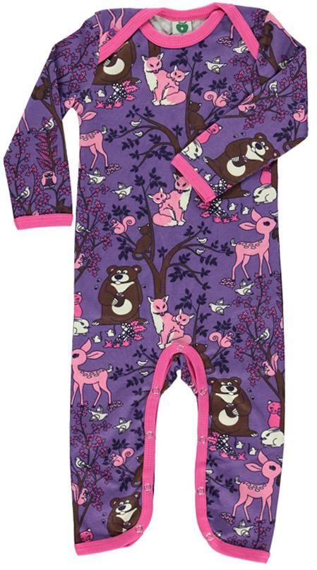 Smafolk Jumpsuit - Purple Forest Retro Baby Clothes - Baby Boy clothes - Danish Baby Clothes - Smafolk - Toddler clothing - Baby Clothing - Baby clothes Online