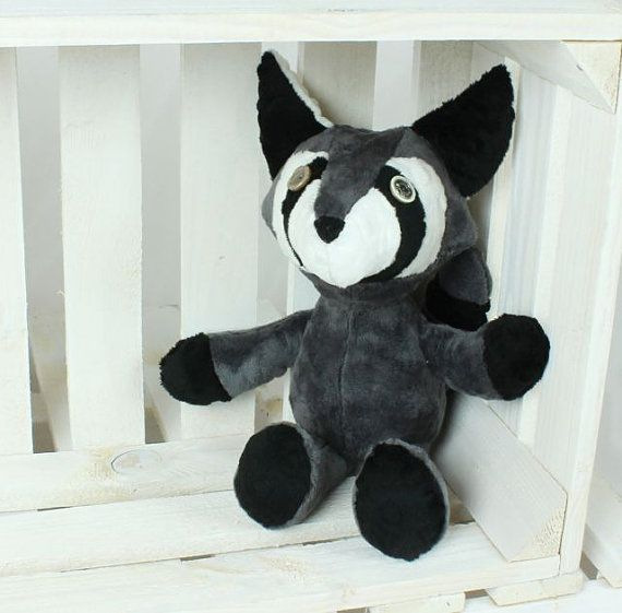 Martin the raccoon Artist toy Gift toy stuffed animal by NuvaArt