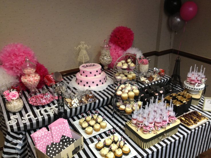 Paris Themed Baby Shower