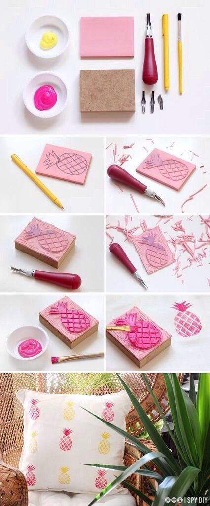 DIY Tutorial | Stamps | Pineapples | Pinterest: Creojam