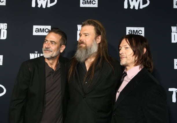 Jeffrey Dean Morgan Ryan Hurst And Norman Reedus Ryan Hurst Walking Dead Premiere Walking Dead Art