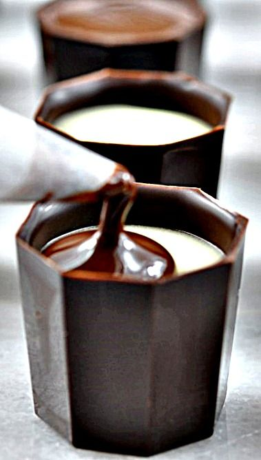 Homemade Liquor Filled Chocolates - not difficult to make, just a bit time consuming. The impression you'll make serving these will justify that! ❊