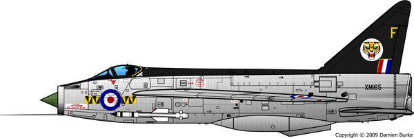 XM165 F.1  74 Squadron, RAF Leconfield, 1962;