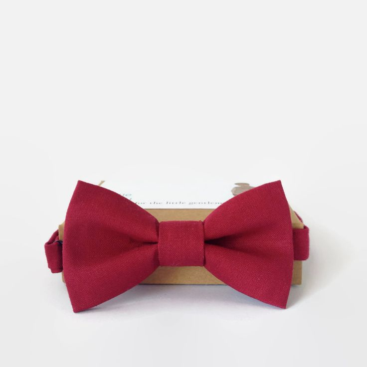 Boys Bow TIe- Red- Little Beau by MyLittleBeau on Etsy