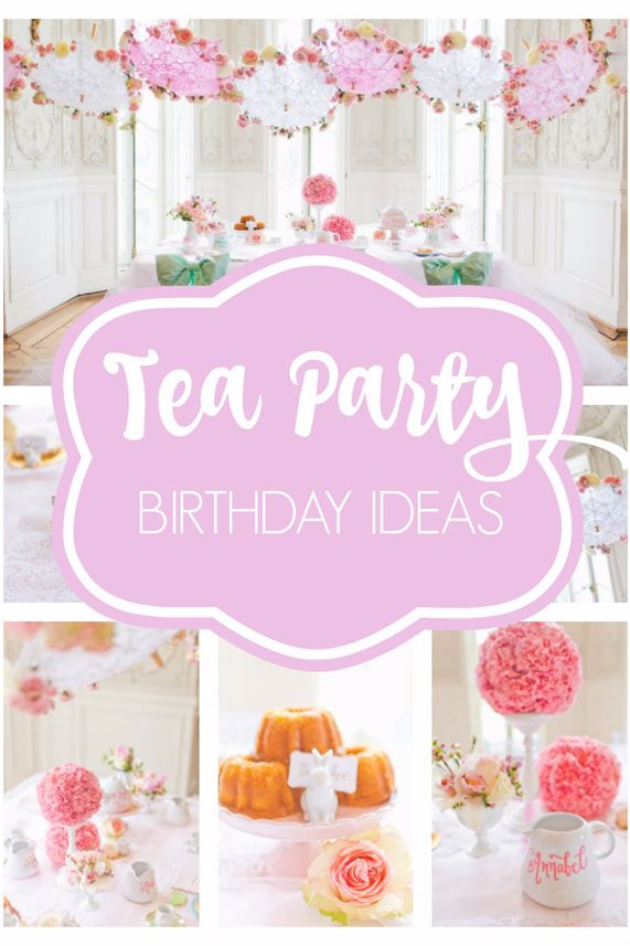 This Tea Party Birthday Is the Sweetest Theme We've Ever Seen!