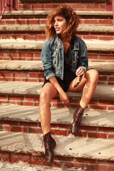shoes and jacket.: Beautiful Woman, Sheer Dresses, Old Lady, Jeans Jackets, Lady Shoes, Leather Boots, Street Style, Denim Jackets, New York Street