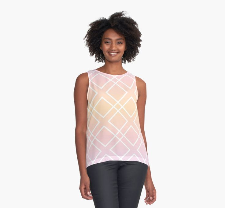 Geometric pattern Sunrise by LunaPrincino #lunaprincino #redbubble #print #prints #art #design #designer #graphic #clothes #for #women #apparel #shopping #tshirt #tees #tank #top #office #fashion #style #pattern #texture #geometric #geometry #ornament #lines #diamond #rhombus #diagonal #squares #sunrise #morning #gradient #pink #orange #purple #and #white #pretty #cute #beautiful #tender #girlish #abstract #summer #spring