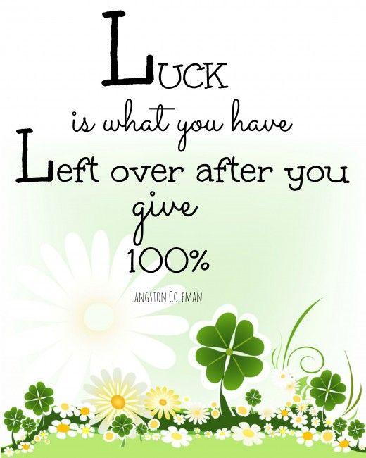 Luck free printable