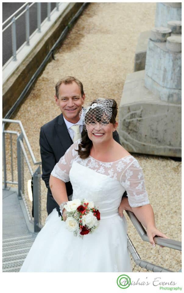 Weddings at Royal Submarine Museum / Wedding photographer Gosport / Wedding couple portraits www.alishaseventsphotography.co.uk