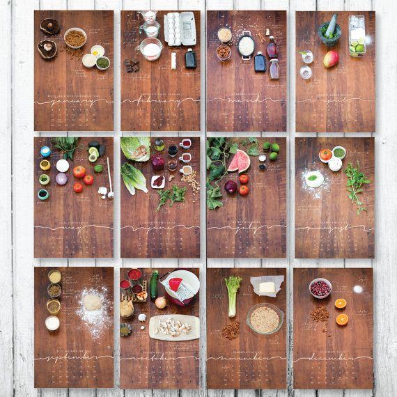 SALE // 2014 Recipe Wall Calendar by thirdcoastpaper on Etsy