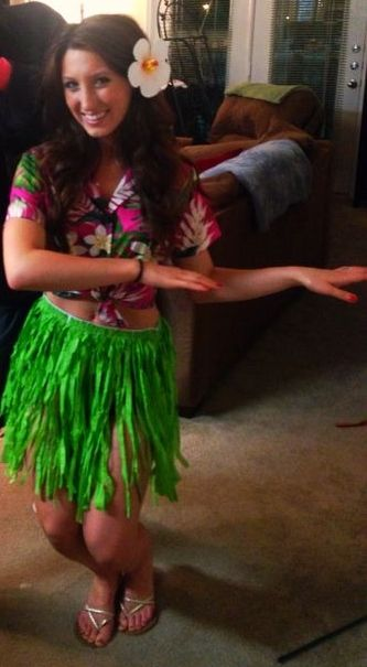 Hula girl costume. More