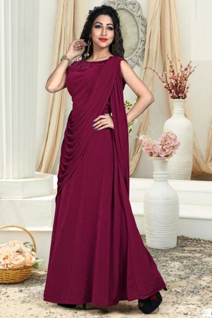 643703c347 Maroon Fancy Event Wear Designer Simple Gown Whatsapp :- +91 9377709531  #wholesale #bulk #wholesalesupplier #wholesaledealer #bulksupplier  #bulkdealer #silk ...